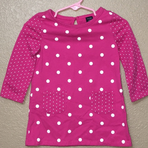 Baby Girl Gap Pink Dress Dots 12-18 Months Excellent Condition! Reasonable Price Dresses